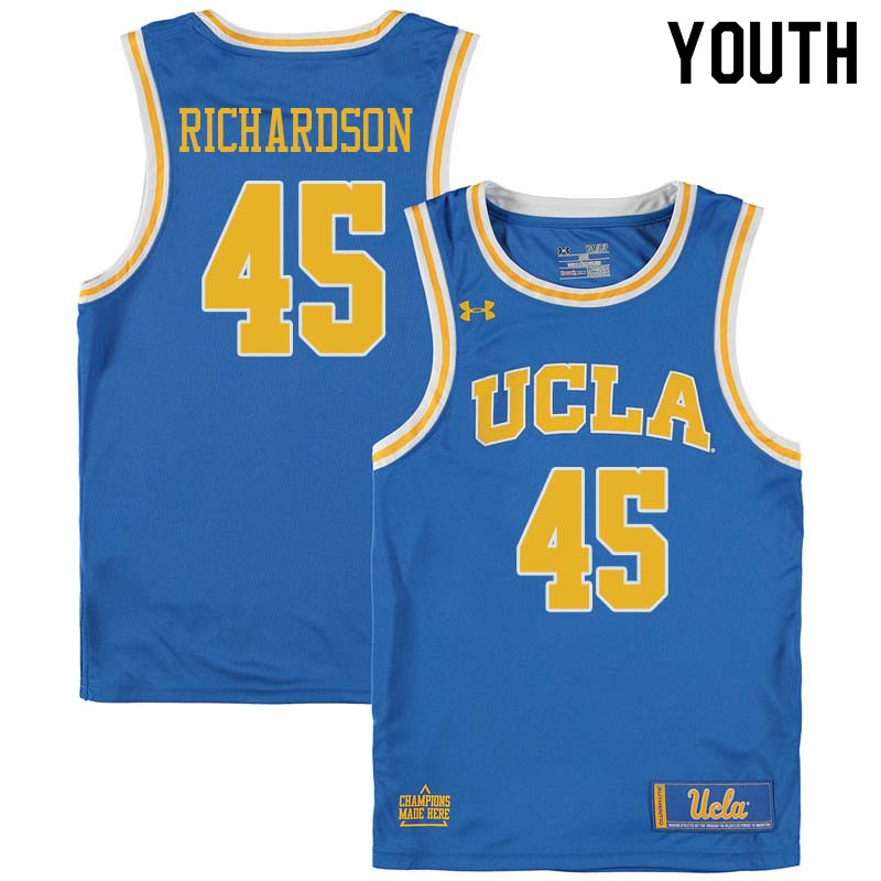 Youth #45 Jerome Richardson UCLA Bruins College Basketball Jerseys Sale-Blue