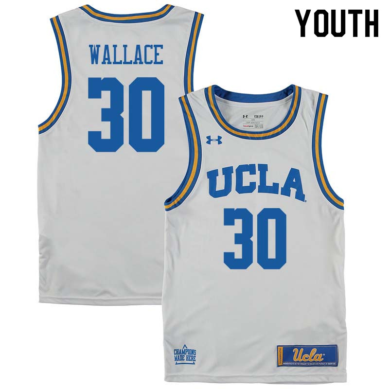 98d3de9c260 Youth  30 Joseph Wallace UCLA Bruins College Basketball Jerseys Sale-White