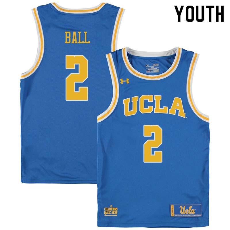 size 40 6321a bb26d Youth #2 Lonzo Ball UCLA Bruins College Basketball Jerseys ...