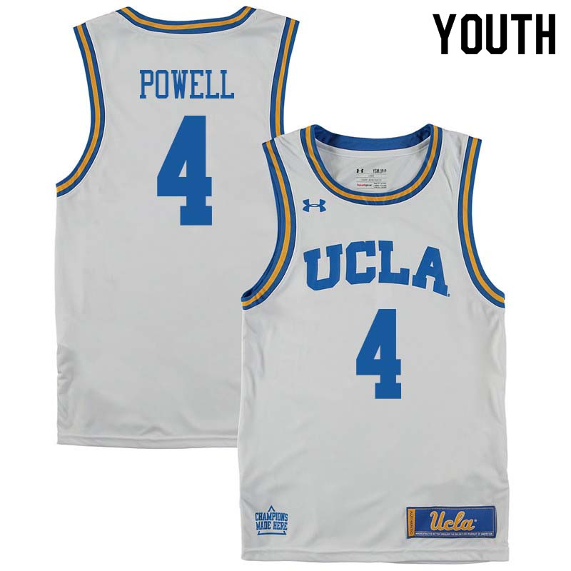 Youth #4 Norman Powell UCLA Bruins College Basketball Jerseys Sale-White