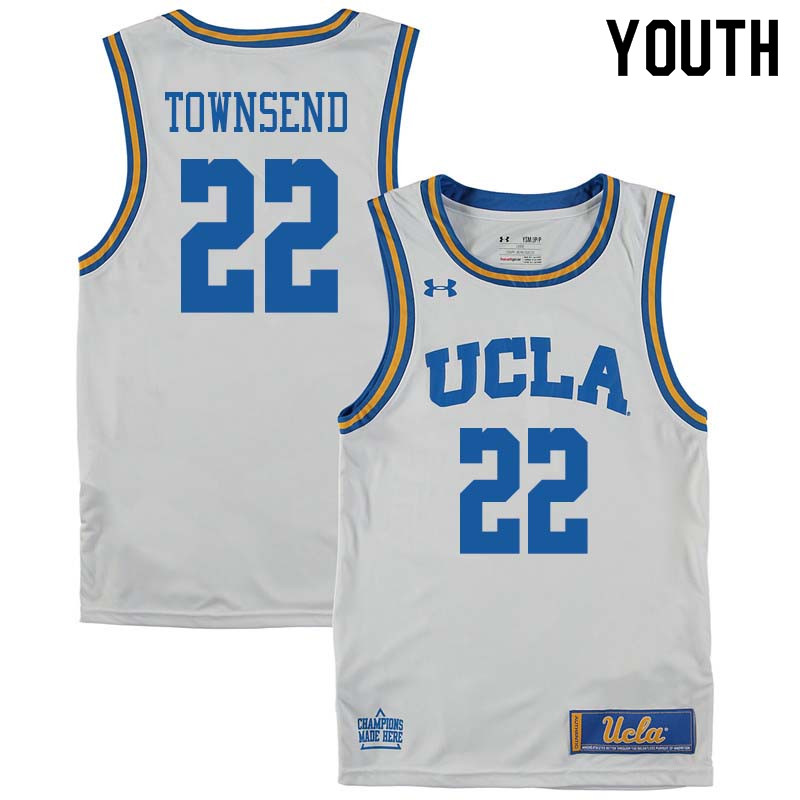 Youth #22 Raymond Townsend UCLA Bruins College Basketball Jerseys Sale-White