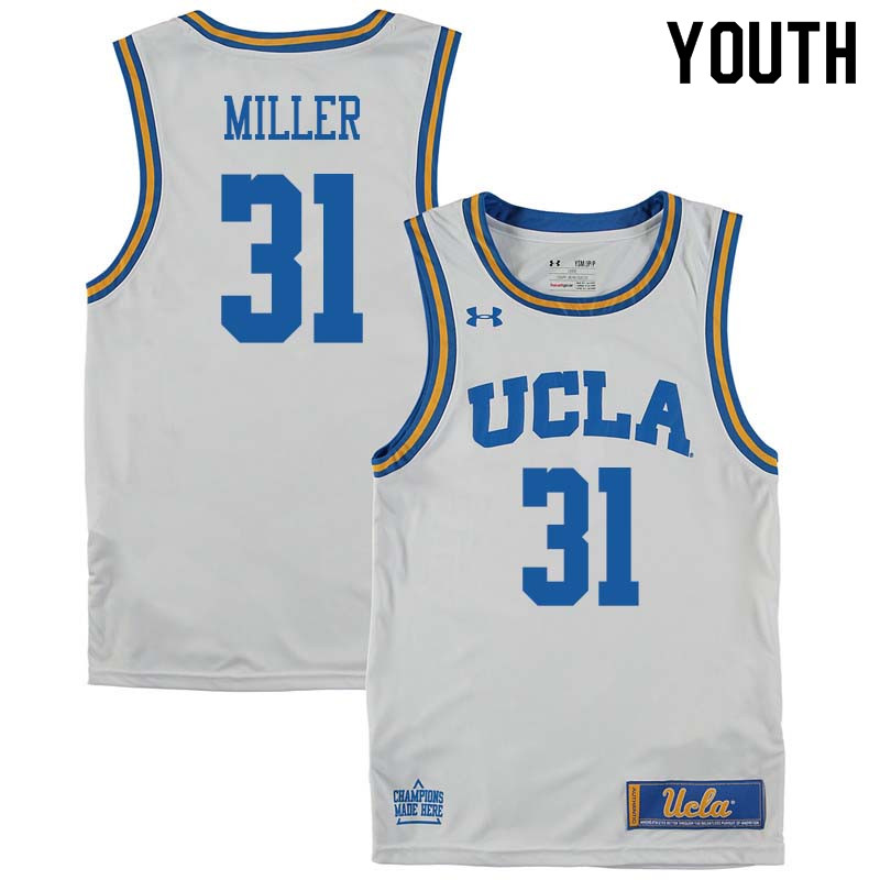 Youth #31 Reggie Miller UCLA Bruins College Basketball Jerseys Sale-White