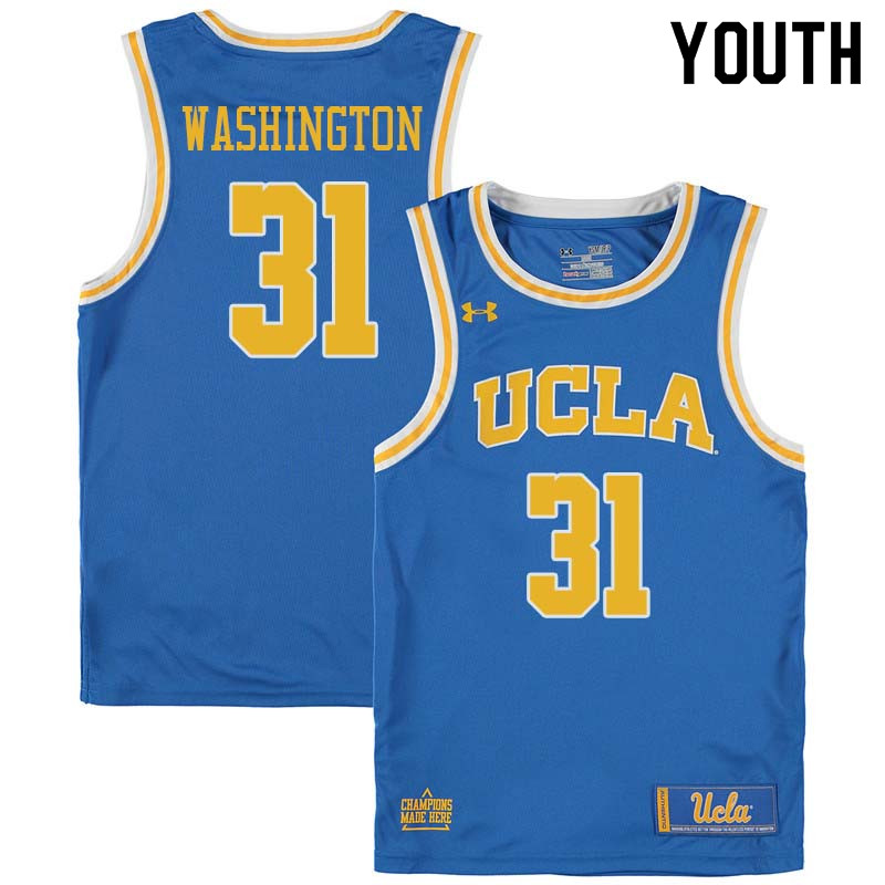 Youth #31 Richard Washington UCLA Bruins College Basketball Jerseys Sale-Blue