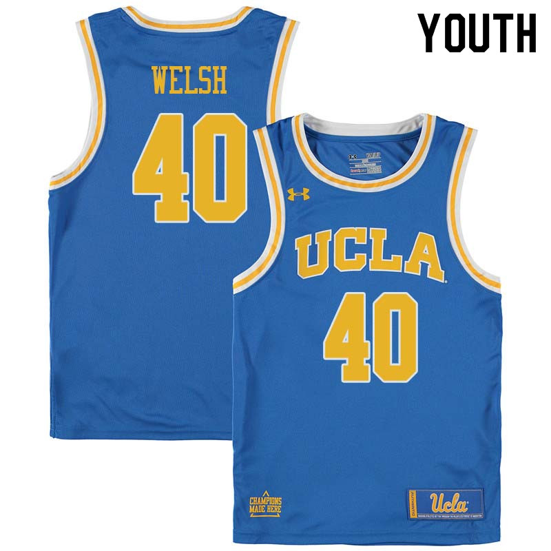 Youth #40 Thomas Welsh UCLA Bruins College Basketball Jerseys Sale-Blue