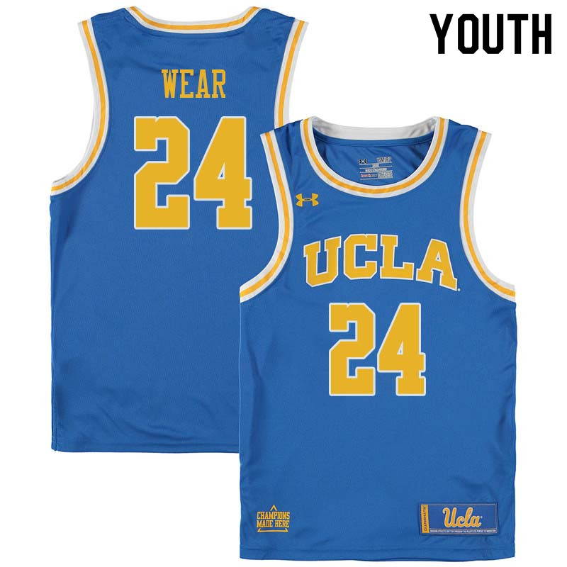 Youth #24 Travis Wear UCLA Bruins College Basketball Jerseys Sale-Blue