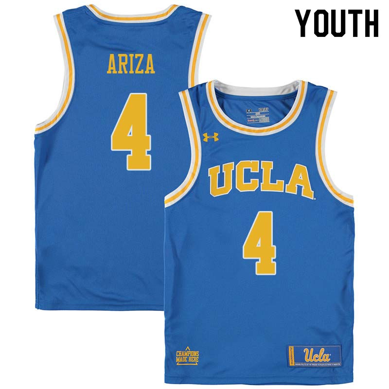 Youth #4 Trevor Ariza UCLA Bruins College Basketball Jerseys Sale-Blue